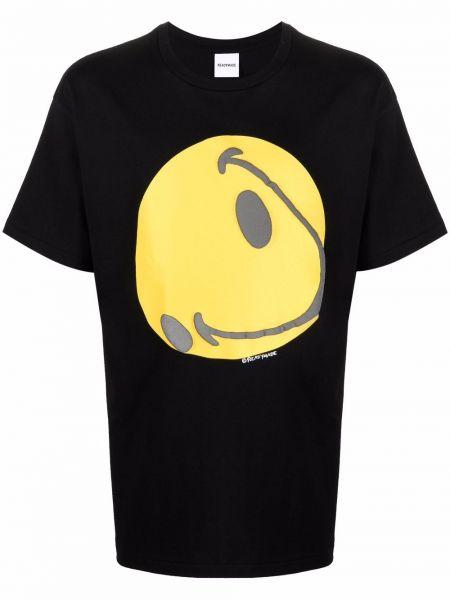 Czarna T-shirt z nadrukiem bawełniana Readymade