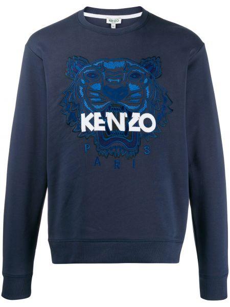 Bawełna z rękawami bluza z haftem okrągły Kenzo