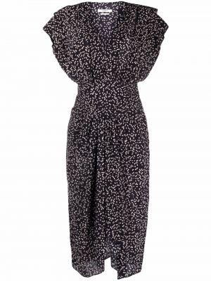 Черное платье миди с принтом Isabel Marant Étoile