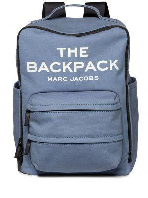 Plecak bawełniany - niebieski Marc Jacobs