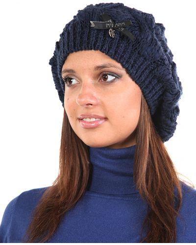 Акриловая шапка - синяя Patrizia Pepe
