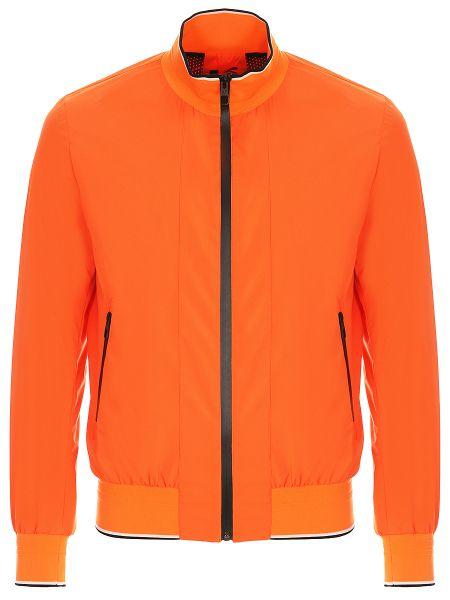 Оранжевый бомбер с карманами на молнии с воротником Montecore