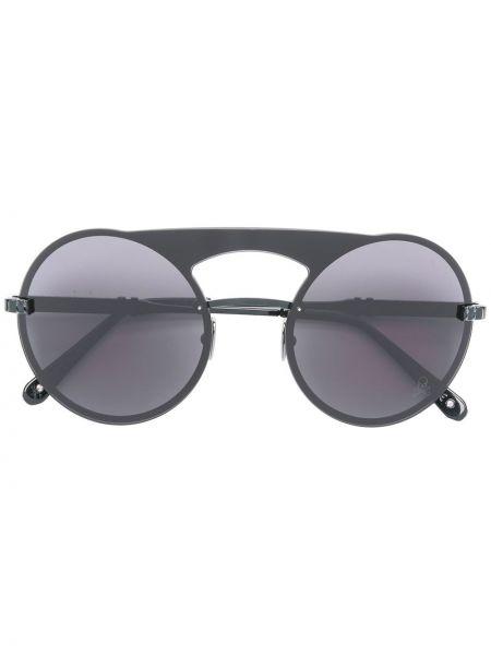 Ażurowe czarne okulary Philipp Plein