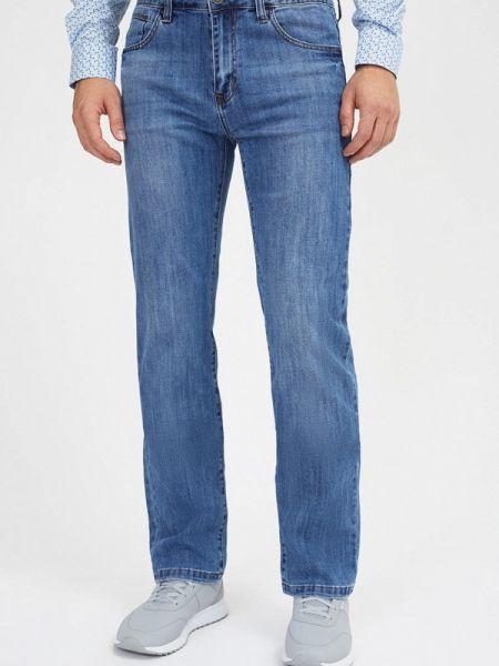 Синие прямые джинсы с жемчугом Mossmore
