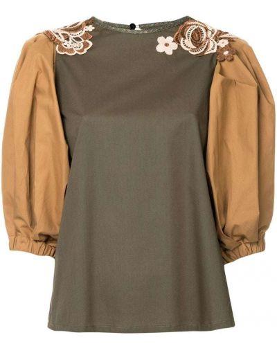 Блузка зеленый хлопковая Antonio Marras