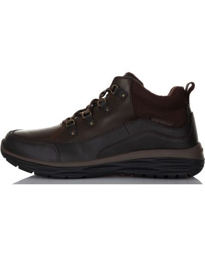 Кожаные ботинки спортивные теплые Skechers