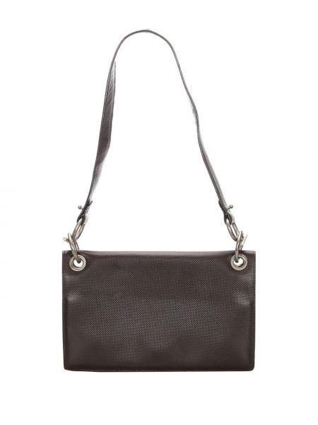 Черная кожаная сумка из натуральной кожи Bottega Veneta Pre-owned