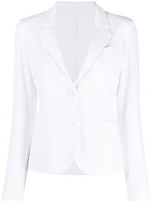Однобортный приталенный белый классический пиджак Seventy