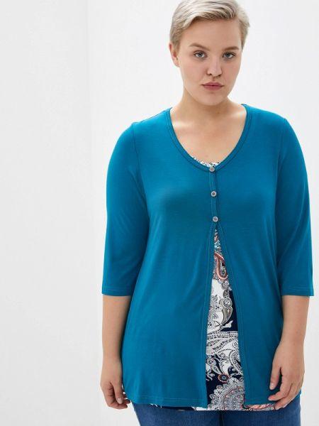 Блузка синяя Артесса