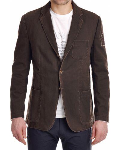Коричневый пиджак La Martina