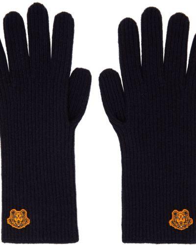 Rękawiczki wełniane - czarne Kenzo