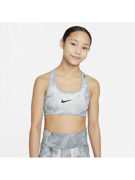 Szary krawat z printem casual Nike