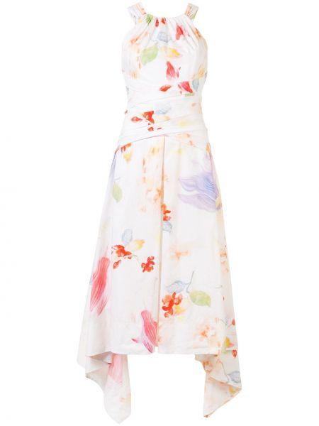 Платье миди с цветочным принтом платье-солнце Peter Pilotto