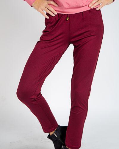 Брендовые красные брюки из вискозы Samo