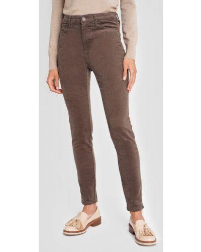 Коричневые классические брюки вельветовые с карманами Ostin