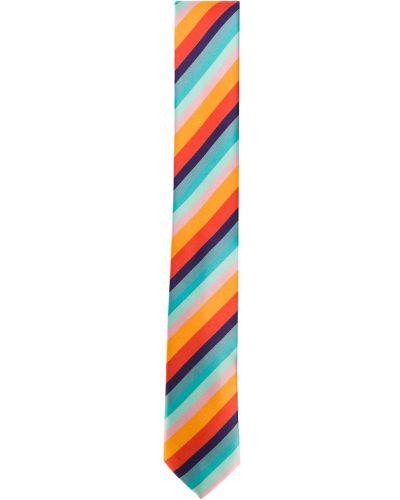 Синий галстук в полоску Paul Smith Junior