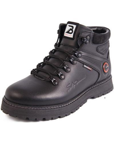 Кожаные ботинки - черные Bumer