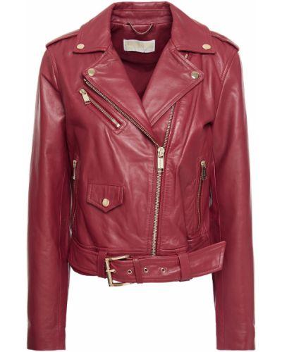 Кожаная куртка с подкладкой байкерская Michael Michael Kors