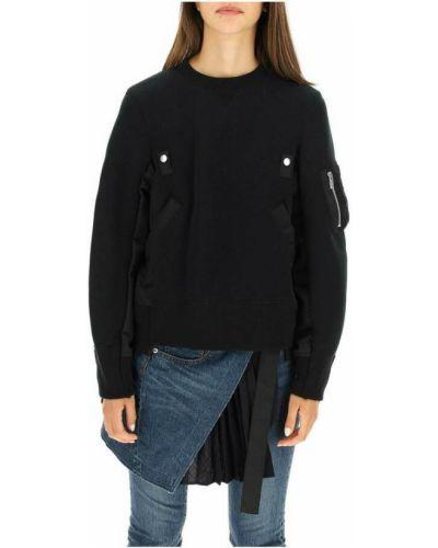 Czarna bluza bawełniana Sacai