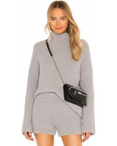 Światło bawełna włókienniczy pulower One Grey Day