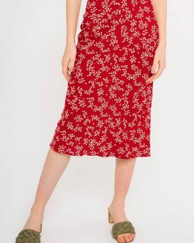 Прямая красная юбка карандаш Shtoyko