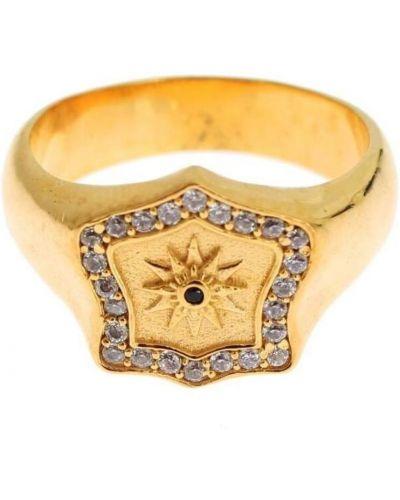 Żółty pierścionek srebrny Nialaya