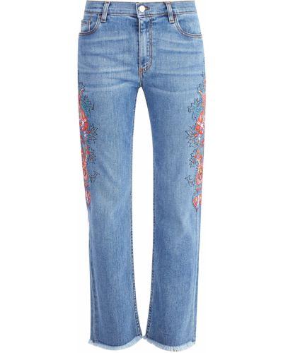 Прямые джинсы с вышивкой Etro