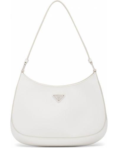 Белая сумка на плечо Prada