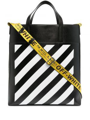 Czarna torba na ramię skórzana Off-white
