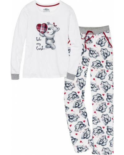 Пижама фланелевая с рисунком Bonprix