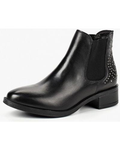Ботинки челси осенние кожаные на каблуке Tamaris