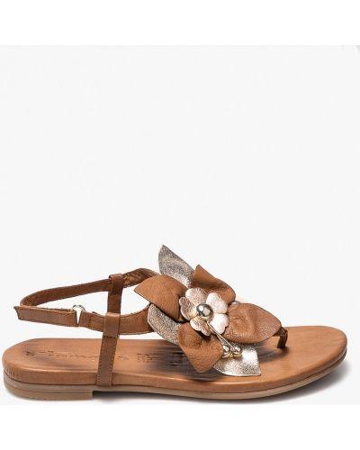 Коричневые сандалии кожаный Tamaris