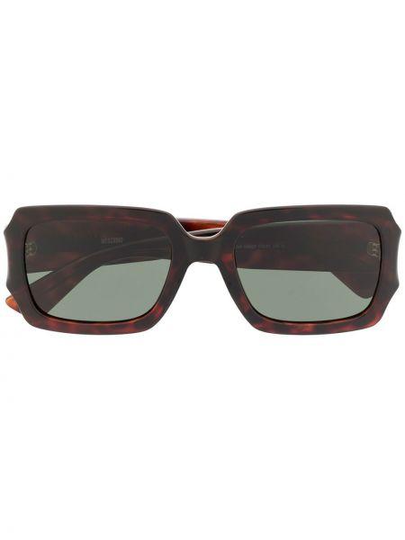Прямые коричневые солнцезащитные очки квадратные Moschino Eyewear
