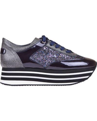 Кожаные кроссовки - фиолетовые Pertini