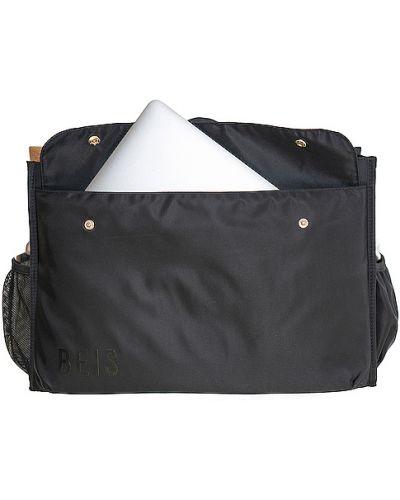 Ciepła czarna torba podróżna z nylonu Beis