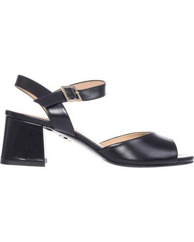 Черные босоножки на каблуке Giorgio Fabiani