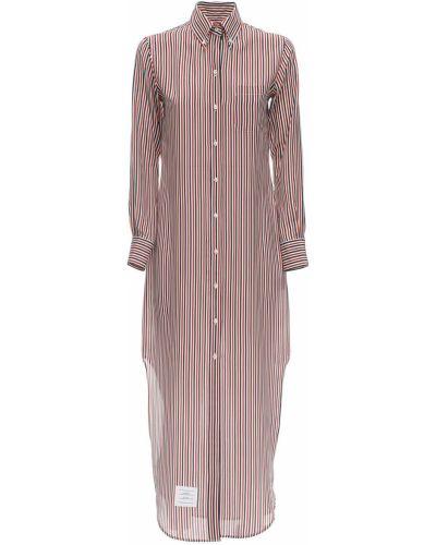 Классическое платье макси на пуговицах с воротником с карманами Thom Browne