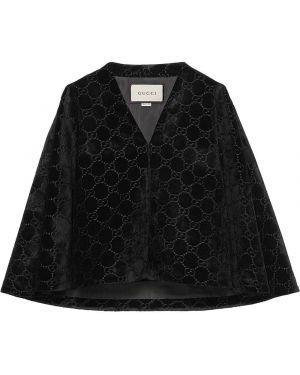 Klasyczna czarna narzutka bawełniana Gucci