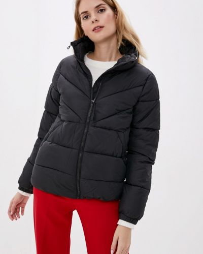 Утепленная куртка демисезонная черная Tom Tailor Denim