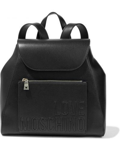 Plecak skórzany - czarny Love Moschino