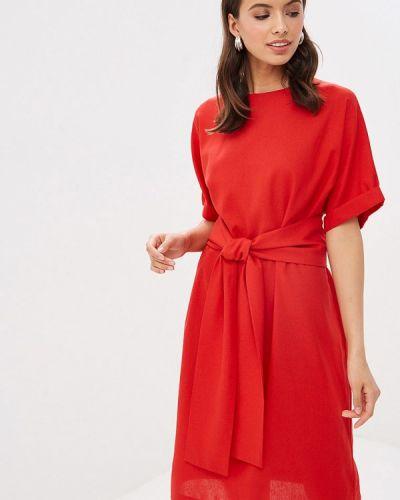 Платье прямое красный Mirrorstore