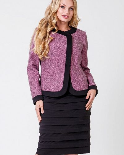 Юбочный костюм черный розовый Sergio Cotti