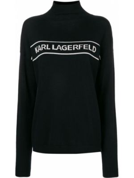 Свитер с воротником шерстяной Karl Lagerfeld