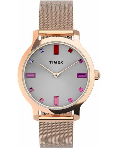 Zegarek kwarcowy srebrny Timex