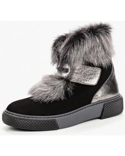 Ботинки замшевые черный Ilvi