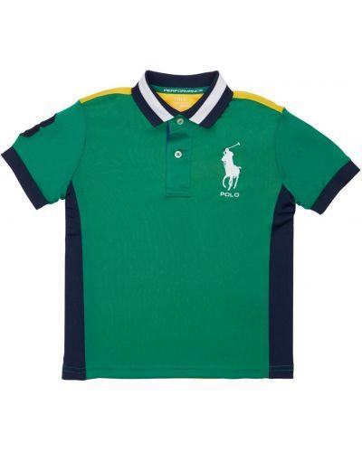 Zielona koszula z haftem Ralph Lauren