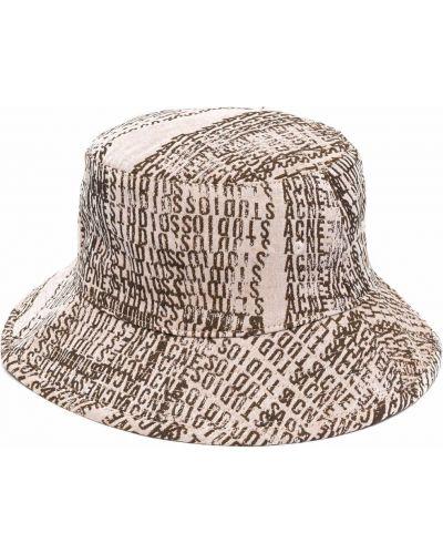 Beżowa czapka wełniana Acne Studios