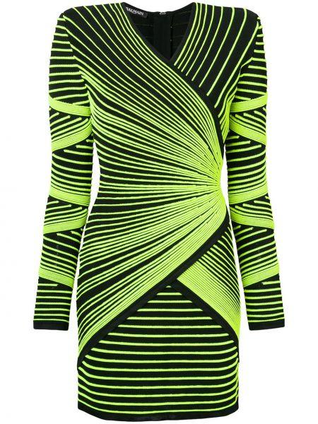 Платье макси через плечо с V-образным вырезом Balmain