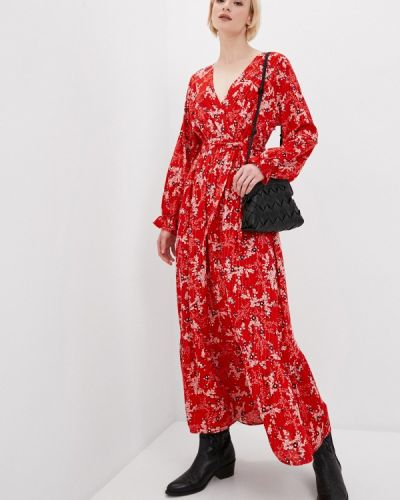 Прямое красное платье А-силуэта Tantra