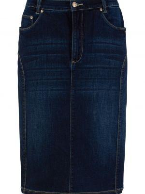 Джинсовая юбка - черная Bonprix